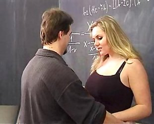 Hot golden-haired screwed by her teacher