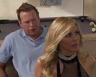 Sexy blond disrobe white bitch three-some alexis texas and julia ann