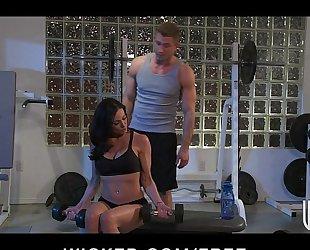 Incredibly fit dark brown milf seduces her personal tutor