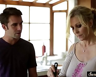 Busty milf drilled passionately by stepson