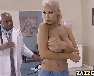 Big tittied bridgette b got group-fucked hard and unfathomable by a large dark ramrod