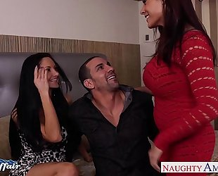 Hot neighbors ava addams and raylene take up with the tongue pussies and share pecker