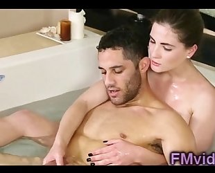 Sweet sweetheart molly jane plays with knob