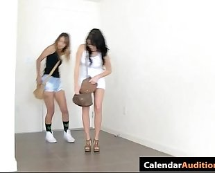three sexy teenies attack at hardcore seductive xxx calendar try-out