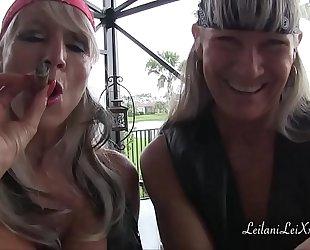 Biker women leilani lei and sally d'angelo trailer