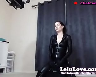 Lelu love livecam bts riding sybian in catsuit