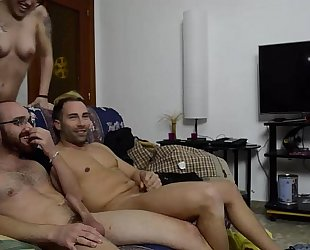 Two lewd couples. cocks and milk for 'em