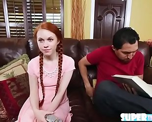 Redhead deepthroater dolly little acquires drilled by mr largos mega rod