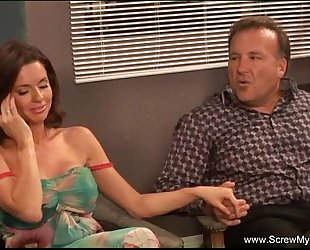 Nasty lalin girl milf swinger team-fucked hard