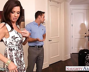 Brunettes india summer and veronica avluv share a large dong