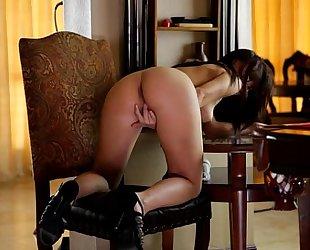 Aidra fox copulates her wet crack with a sex-toy - eroticvideoshd.com