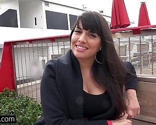 Bang real milfs - latin chick mercedes carrera gives a sloppy bj
