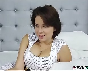 Busty russian marina visconti shows off her pantoons