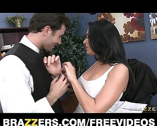 Slutty large tit office worker likes to be dominated at work