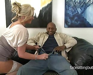 Horny cougar has a thing for biggest dark knobs