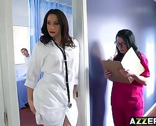 Hot doctor chanel three-some fuck at the hospital