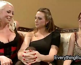 Babe anal mistreated by 2 lesbo women