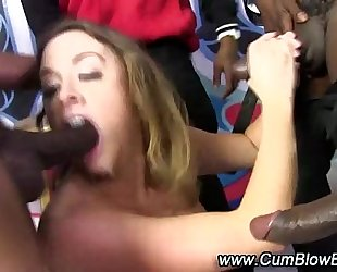 Black dick gang group sex blowjobs bukkake