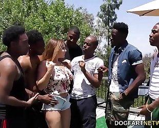 Natasha good interracial group-sex sex