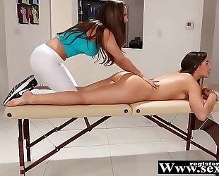 R33n@ sky, ab3ll@ dang3r and chan3l pr3ston in immodest massage