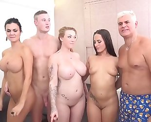 Jasmin jae, mea melone and harmony reigns in an fuckfest