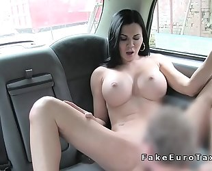 Huge fake love bubbles milf bangs in fake taxi
