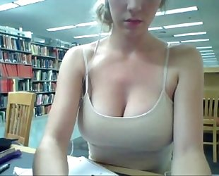 Horny dirty slut wife gives a web show, in the university library - orgythreesome.blogspot.