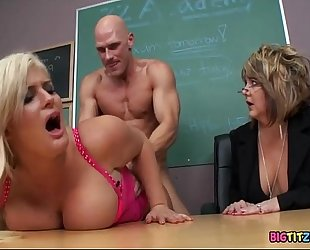 Disciplining the school bitch - julie money, johnny sins