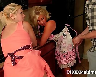 Step mommy and sister drilled by youthful stepson milf fifi foxx payton hall