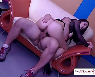 The stripper experience - noelle easton flawless wazoo screwed by a giant knob