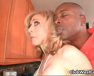 Horny golden-haired houswife nina hartley receives