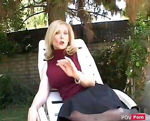 Hot milf nina hartley engulfing pecker and fucking - pov-porn.net