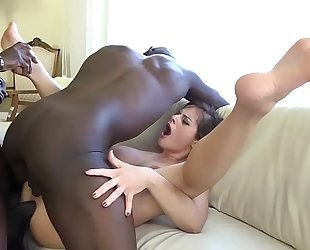 Anal fisting fuck sweetheart snatch and a-hole screwed by dark chaps hardcore