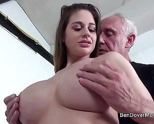 Cathy heaven fucking with grandpa ben dover