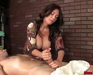 Sexy big-titted white wife dick treatment