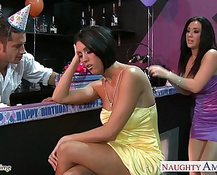 Busty sweethearts dylan ryder and jayden jaymes sharing a dude at party