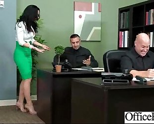 Hardcore sex scene in office with bitch wicked breasty housewife (jayden jaymes) clip-16