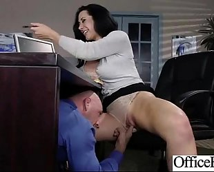Busty excited housewife (jayden jaymes) acquire hard style team-fucked in office vid-18