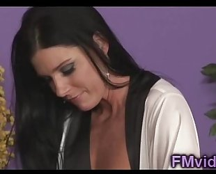 Amazing milf india summer plays with a large jock