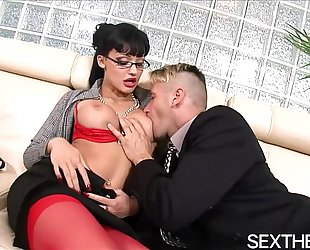 Aletta ocean gives blow job then hardcore sex