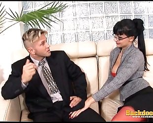 Anal fuck with breasty secretary