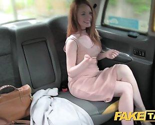 Fake taxi posh redhead with large nipps