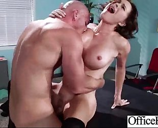 (krissy lynn) office housewife with large melon melons have a fun hard sex in office mov-24